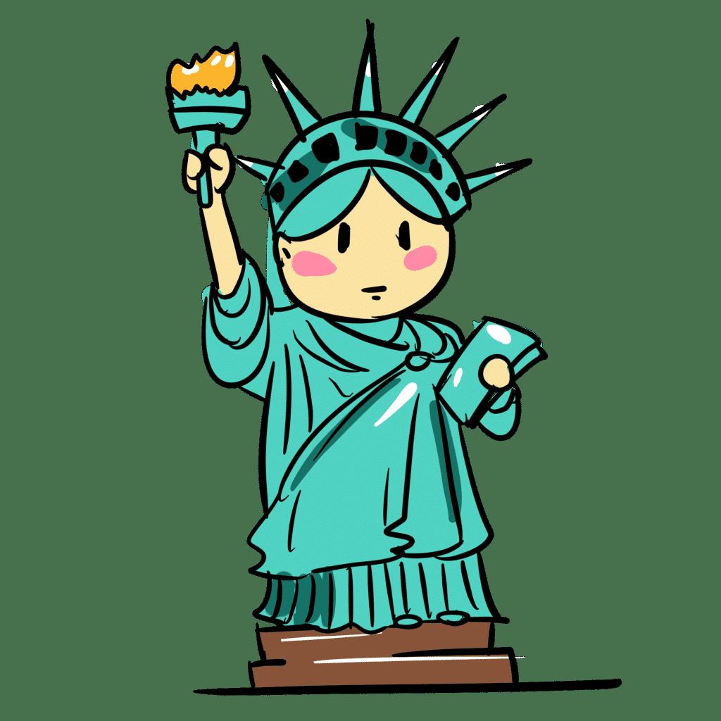 frihetsgudinnan USA resa väduren stjärntecken